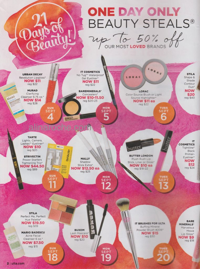 Ulta 21 Days of Beauty page 1